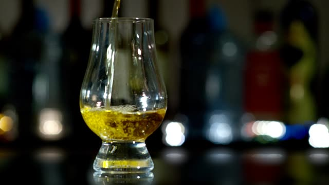 whiskey glass - scotch whiskey stock videos & royalty-free footage