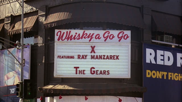 whisky a go go entrance, hollywood - west hollywood stock videos & royalty-free footage