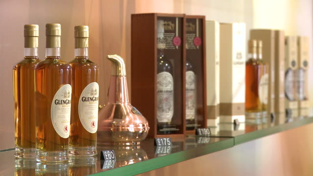 MS Whisky showroom at visitors centre / Rothes, Speyside, Scotland