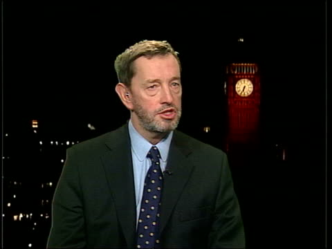 whistle blower cleared; westminster: int david blunkett mp interview sot - whilst it is not always possible to pursue this case, is underlying... - david blunkett stock videos & royalty-free footage
