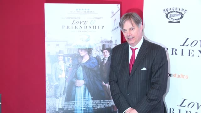 "whit stillman at ""love & friendship"" new york screening at landmark sunshine cinema on may 10, 2016 in new york city. - ランドマークサンシャインシアター点の映像素材/bロール"