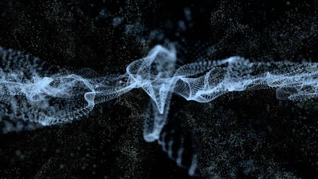 stockvideo's en b-roll-footage met witte abstracte achtergrond voor digitale golf deeltjes formulier, animatie van naadloze loops - loop elementen