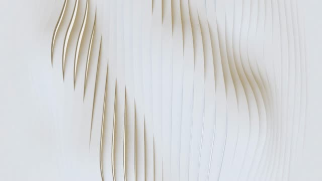 white abstract geometric surface, minimal pattern, random waving motion background . seamless loop 4k uhd fullhd. - materiale video stock e b–roll