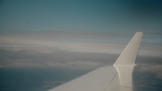 White Airplane wing and winglet without brand