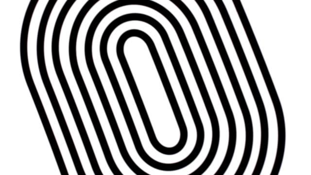 Espiral blanco y negro. Oscilación imagen. Abstracta.