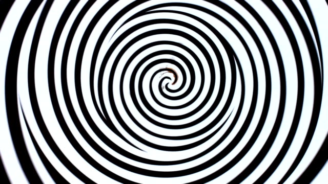 white and black spiral. swirling image. abstraction. - illusion stock videos & royalty-free footage