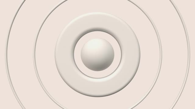 vídeos de stock e filmes b-roll de white ball circle 3d render abstract motion - esfera