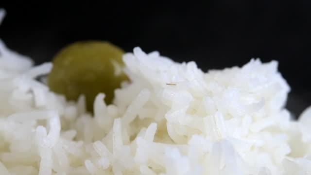 white basmati rice - unhealthy eating stock videos & royalty-free footage