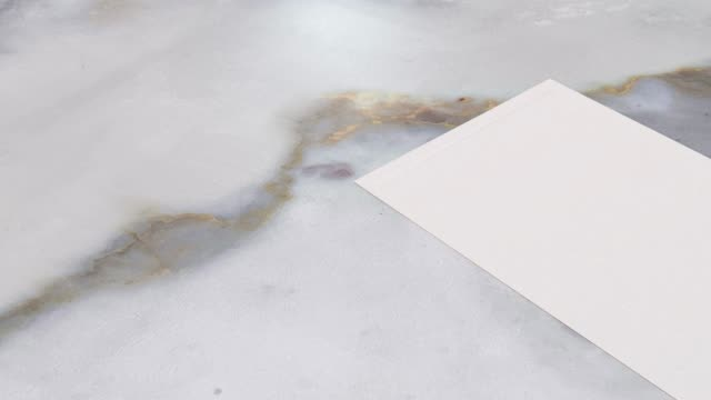 white blank paper on marble ground 3d rendering motion - marble stock videos & royalty-free footage