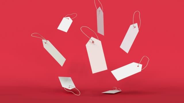 vidéos et rushes de levitation 3d de groupe de signe de livre blanc blanc - objet en papier
