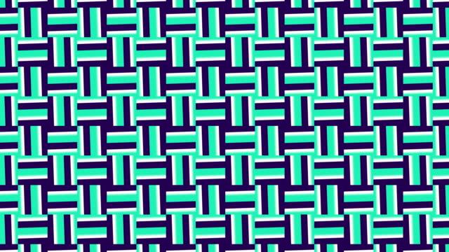 動きの白、青および黒の幾何学的形状、万華鏡パターン - 投影図点の映像素材/bロール