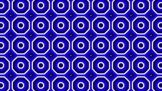 white, blue and black geometric shapes in motion, kaleidoscope pattern - kaleidoscope pattern stock videos & royalty-free footage
