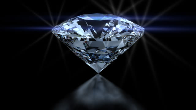 hd white blue and red spinning diamond - stone object stock videos and b-roll footage