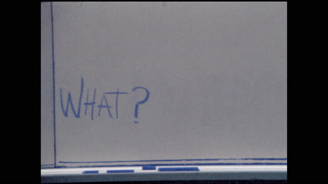 """white board with the word """"what?"""" written in blue ink - question mark stock videos & royalty-free footage"""