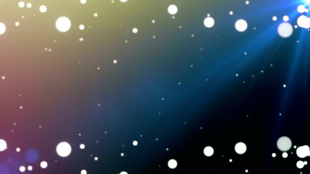 Witte bokeh deeltjes kleurrijke achtergrond - lus