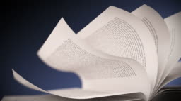 White book's pages turning. Close up loopable CG.