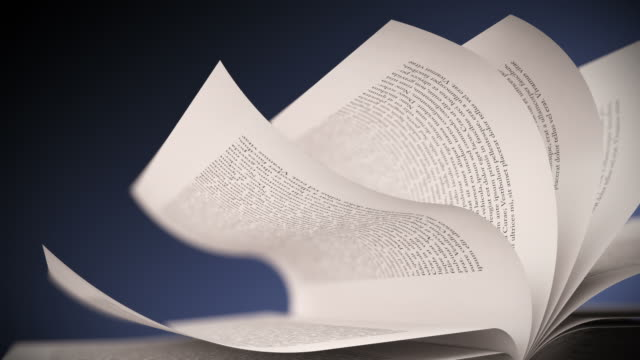 white book's pages turning. close up loopable cg. - bok tryckt media bildbanksvideor och videomaterial från bakom kulisserna