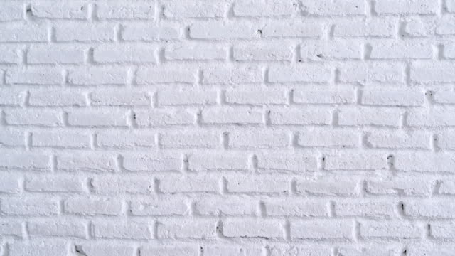 white brick wall background panning shot - decoration stock videos & royalty-free footage