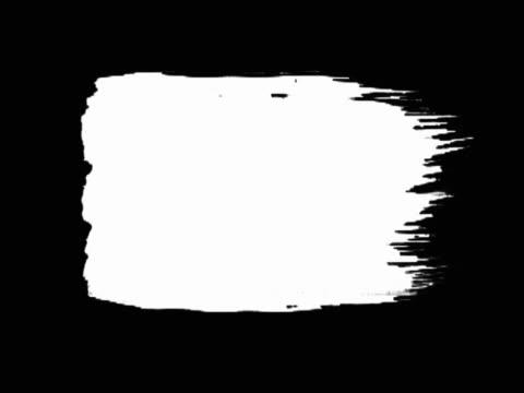 White brush stroke going across black background