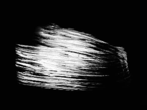 white brush strokes going across black background - brush stroke stock videos & royalty-free footage