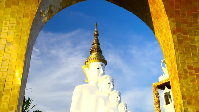 bianco buddha - adagiarsi video stock e b–roll