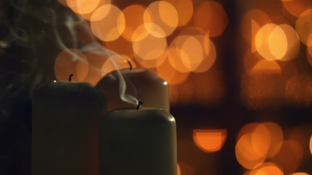 white christmas candles - candle stock videos & royalty-free footage