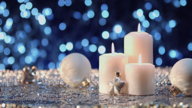 white christmas candles - evergreen stock videos & royalty-free footage