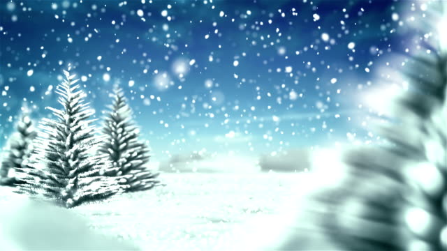 white christmas winter background - blue sky - december stock videos and b-roll footage