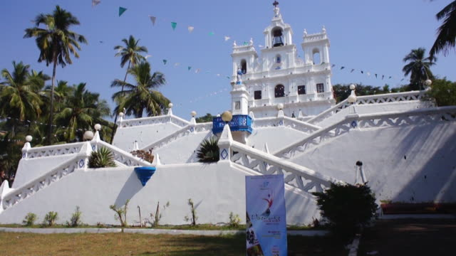 White church in Goa, India