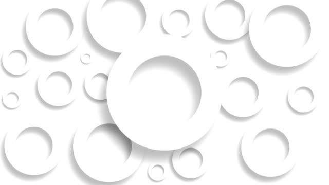 シームレスな 3d アニメーションで移動する表面上の白い円。抽象モーションデザインの背景、ストックビデオ - レリーフ点の映像素材/bロール