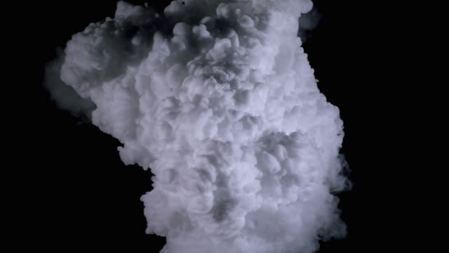 white cloud effect, filling from center - cloud matte stock videos & royalty-free footage