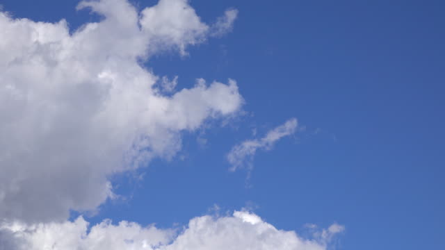white clouds in blue sky - plusphoto stock videos & royalty-free footage