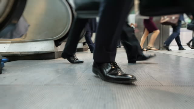 white collar workers commuting to the offices - tube stock videos & royalty-free footage