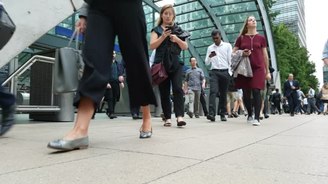 white collar workers commuting to the offices - partire video stock e b–roll