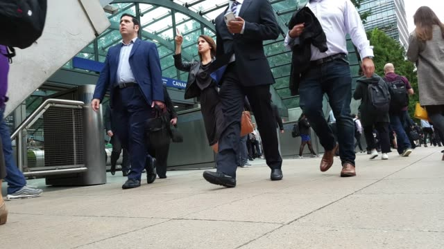white collar workers commuting to the offices - leaving stock videos & royalty-free footage