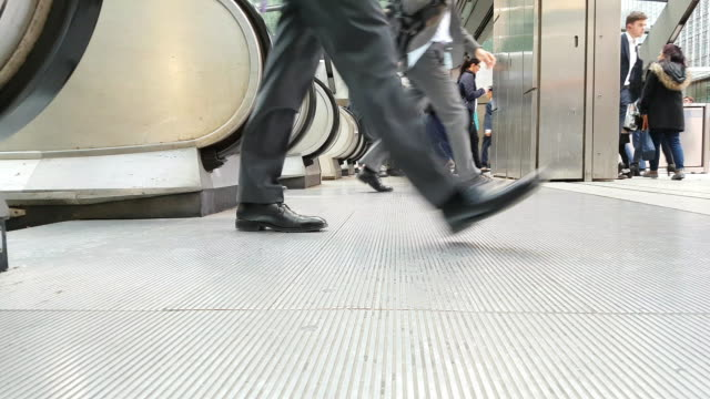 white collar workers commuting to the offices - underground station stock videos & royalty-free footage