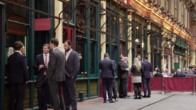 white collar workers meeting in london leadenhall market - after work stock videos & royalty-free footage