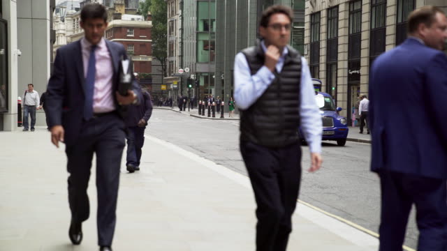 White Collar Workers Walking In London Fenchurch Street