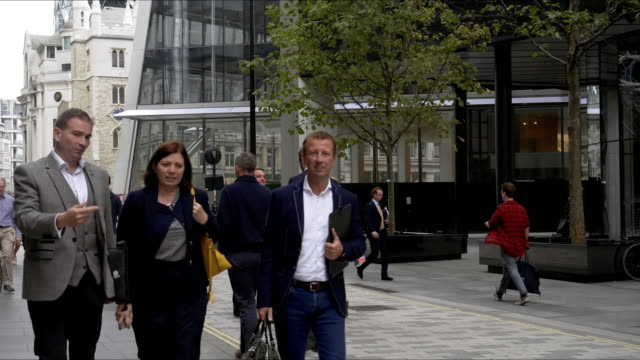 White Collar Workers Walking in London Lime Street