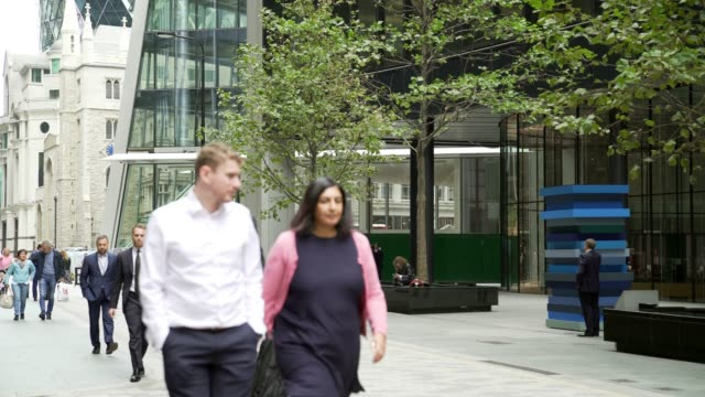 White Collar Workers Walking in the City of London
