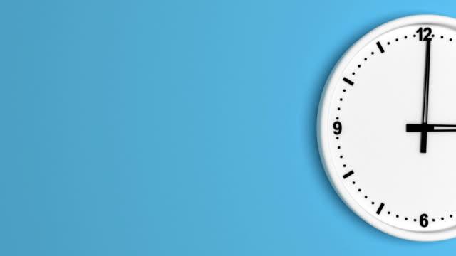 Weiße Farbe Uhr Zeitraffer Endlos wiederholbar