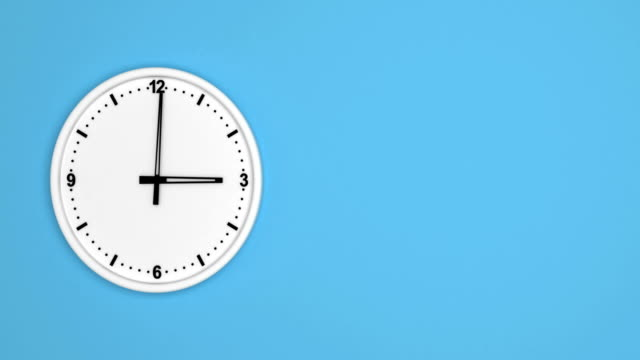 white color clock time lapse loopable - clock hand stock videos and b-roll footage