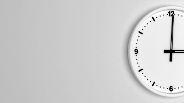 white color clock time lapse loopable - clock face stock videos & royalty-free footage