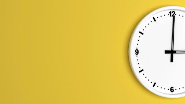 vidéos et rushes de couleur blanche horloge time-lapse bouclables - horloge