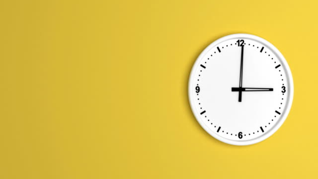 white color clock time lapse loopable - colored background stock videos & royalty-free footage