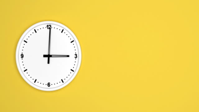 white color clock time lapse loopable - temporale video stock e b–roll