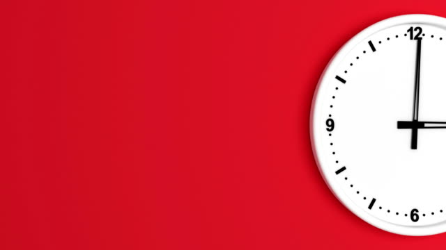 white color clock time lapse loopable - coloured background stock videos & royalty-free footage