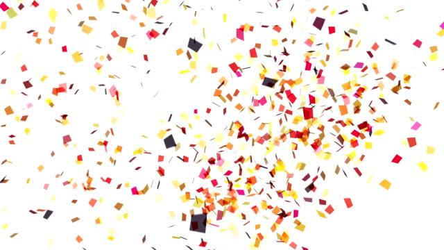 vídeos de stock, filmes e b-roll de branco confete explosão - confete