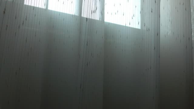 White curtain interior home decoration