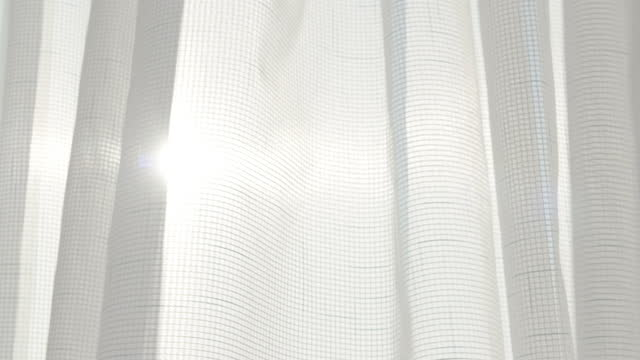 white curtain waving against sun - translucent stock videos & royalty-free footage